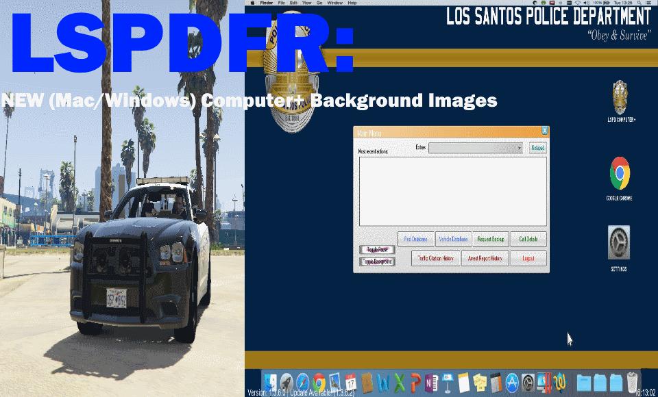 LSPDFR: Computer+ Backgrounds - GTA5-Mods com